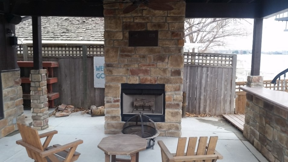Outdoor Patio Fireplace A Great Source Entertainment