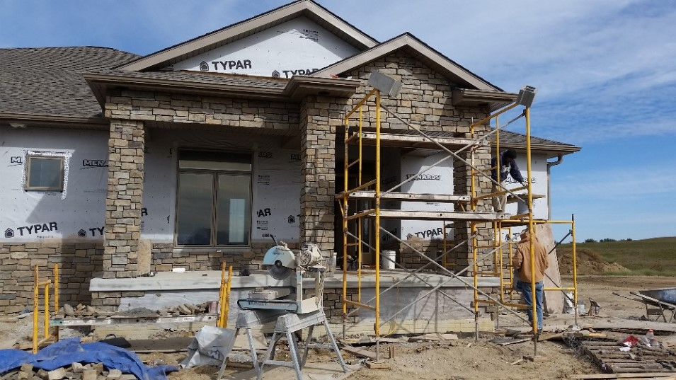 Stone Facade Added To New Home