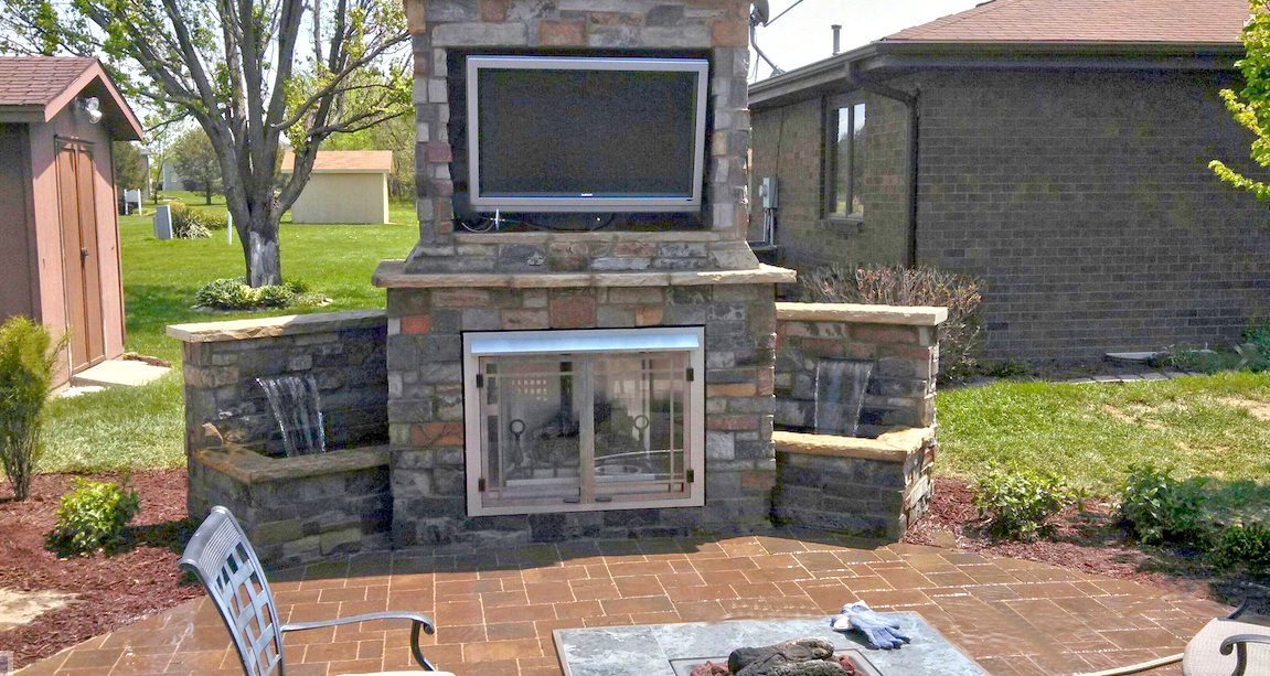 Outdoor Patio Fireplace A Great Source Of Entertainment